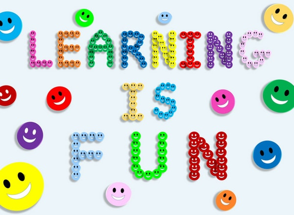 learning in school is fun smiley faces