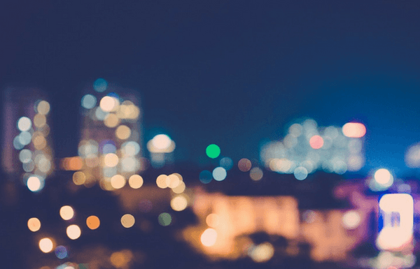 blurry city skyline