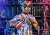 child scientist playing in a lab