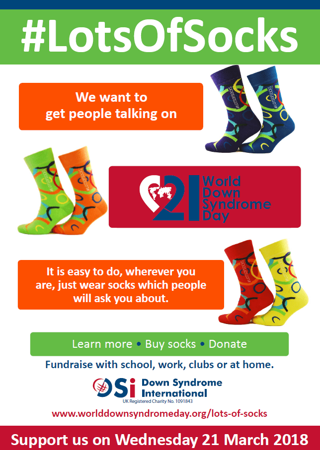 wear lots of socks world down syndrome day