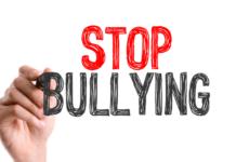 hand writing stop bullying
