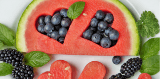 watermelon and berries