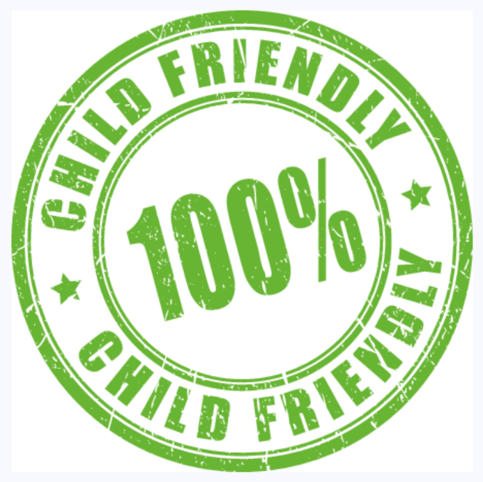 100 percent child friendly stamp of approval