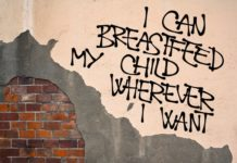 breastfeeding slogan on wall