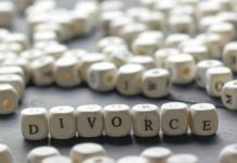 divorce written in white beads with black letters-min