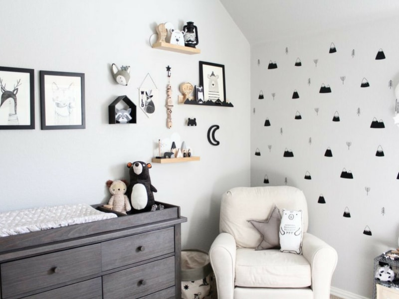 black and white monochrome nursery