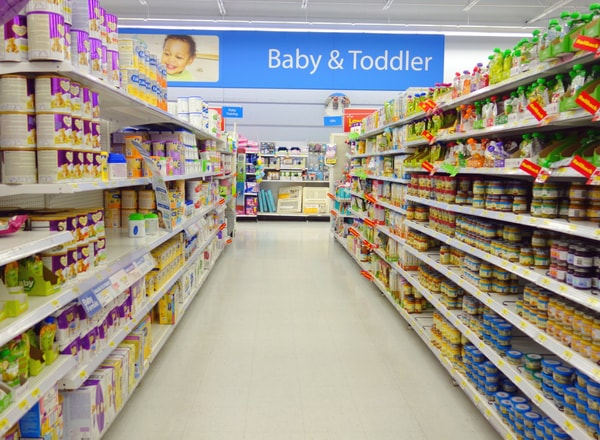 formula feeding aisle in supermarket