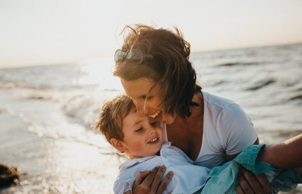 mom-and-son-at-beach