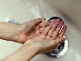 bacteria-infection-being-washed-off