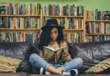 child-reading-parenting-books-in-library