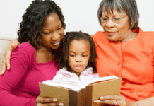 mom-and-grandma-reading-book-with-preschooler-about-bullies