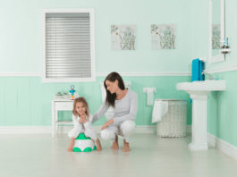 bumbo-step-n-potty-training-with-daughter-and-mother-in-bathroom