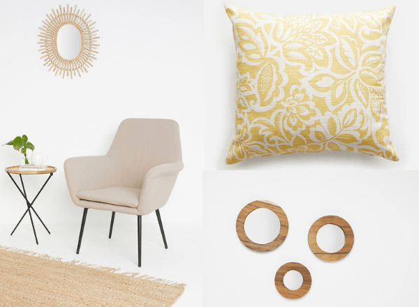 tulip-chair-floral-yellow-cushion-mini-round-mirrors-from-superbalist-apartment-department