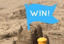 Solar buddies suncream applicator with sand castle