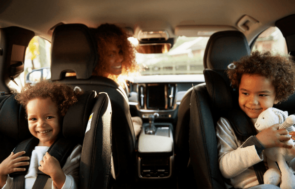 Children in car seats for travel safety