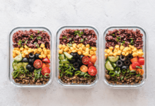 Lunchboxes filled with healthy and delicious food