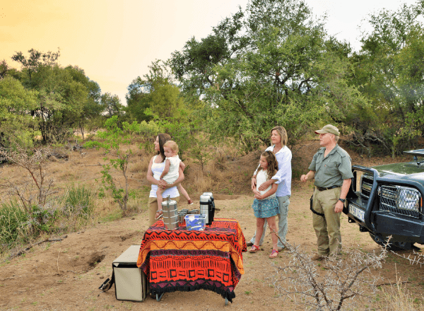Family morning game drive at Safari Plains