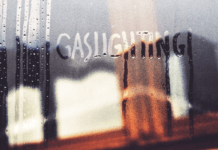 Gaslighting written on a fogged up window