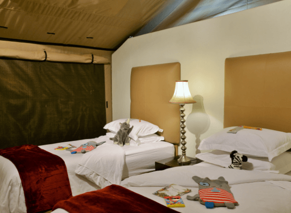 Kids bedroom at Safari Plains guest lodge