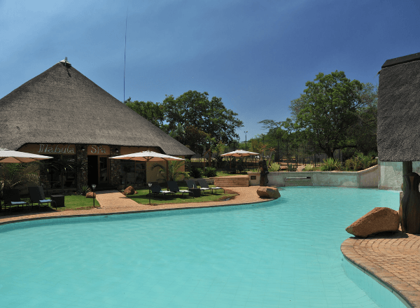Mabula game lodge outside pool and spa