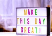 Make this day great light up board