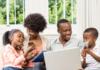 Parents teaching online safety to their children