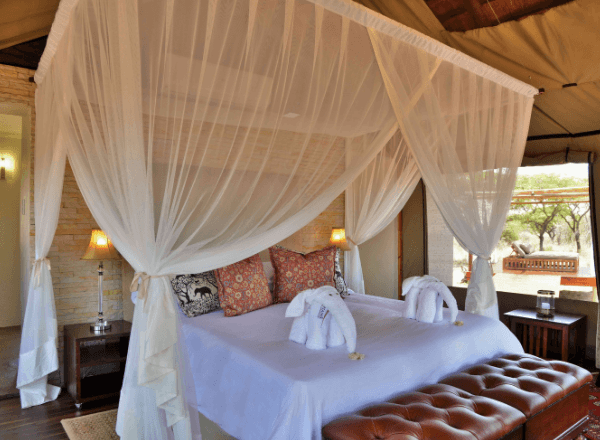 Tented suite at Safari Plains game lodge