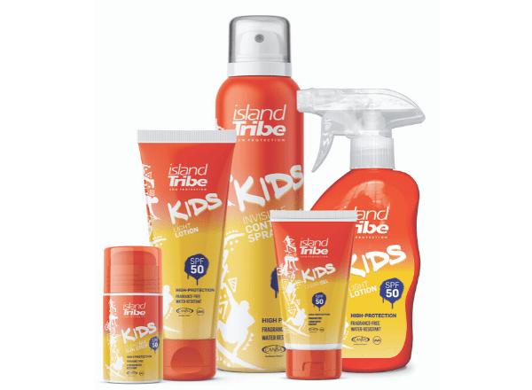 Island Tribe for kids light sunscreen lotion
