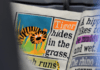 Newspaper headline: Tiger hides in the grass