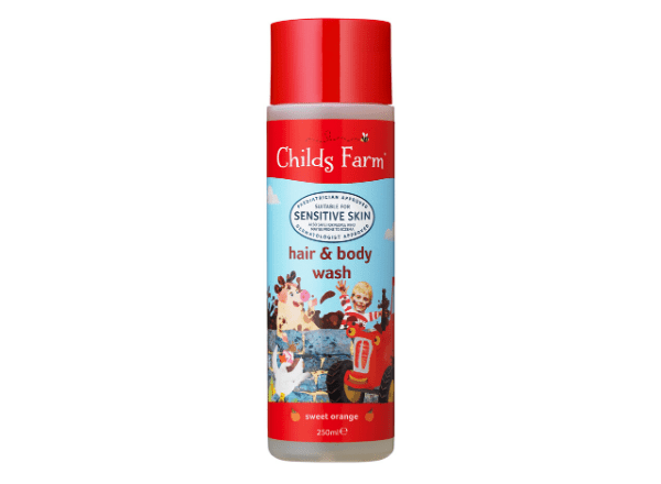 Childs Farm hair and body wash in sweet orange