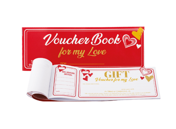 Novelty voucher book for your love