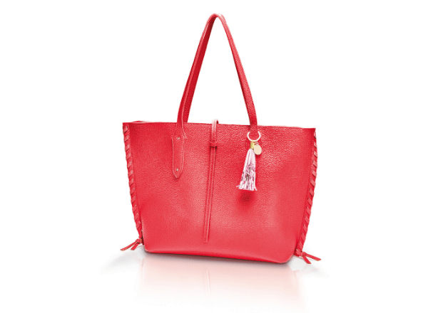 Red faux leather Elenor Tote handbag