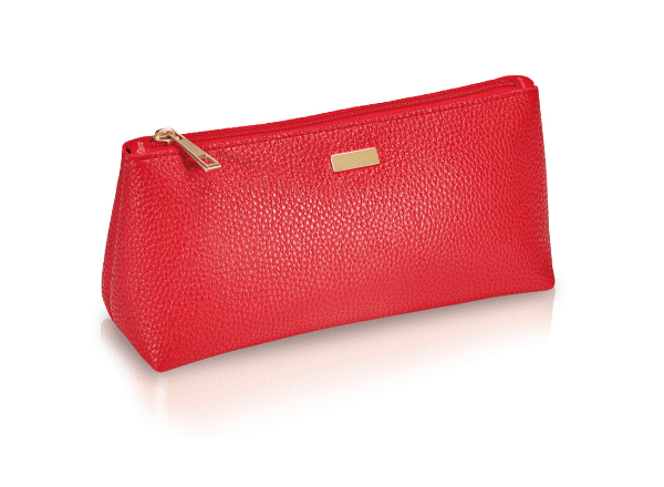 Red Viv cosmetics pouch