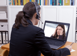Online therapy session with a professional therapist