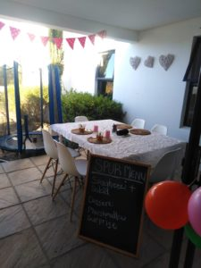 Spur-themed birthday decor in the home