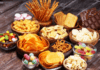 Variety of energy-rich snacks for labour