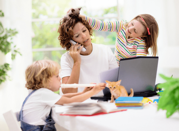 Mom hired an aupair to help with homeschooling