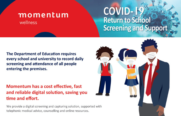 Momentum Health COVID-19 Return to School Screening and Support