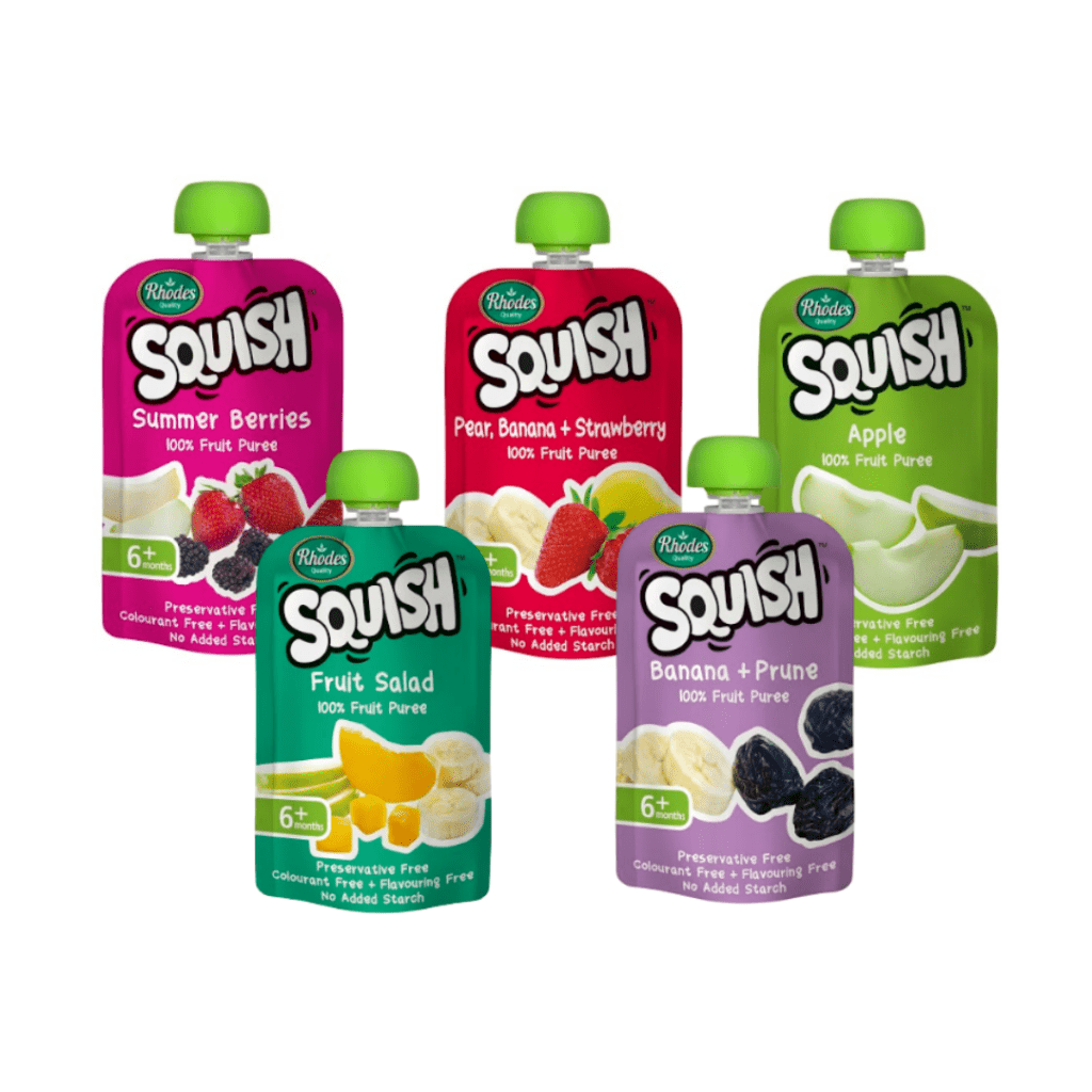 squish puree flavours