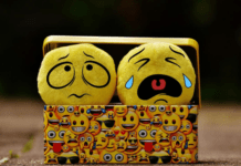 Sad and crying emojis