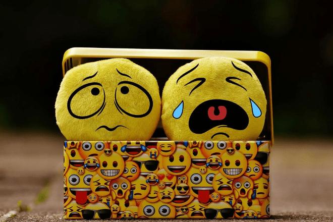 Sad and crying emojis