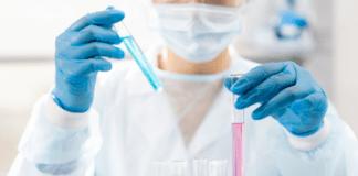 noninvasive prenatal testing technician in a lab
