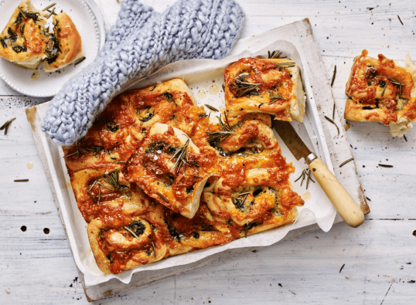 Spinach and cheese pull-apart bread recipe