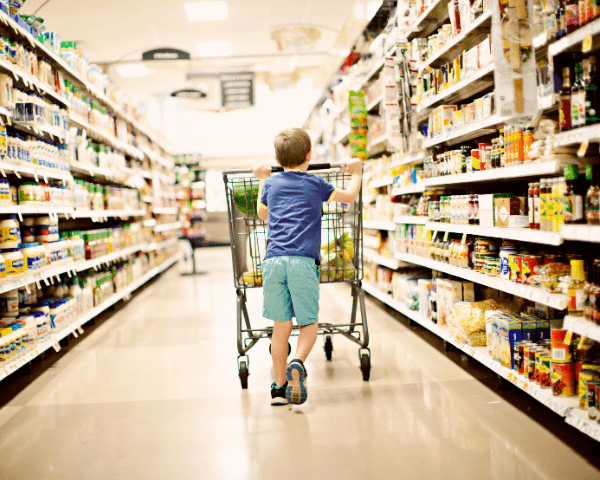 Take your kids grocery shopping