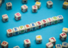Apostnatal depression: alphabet blocks spelling out the word depression