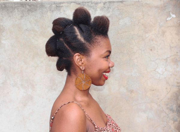 natural hair updo look 5a