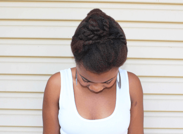 natural hair updo look 6c