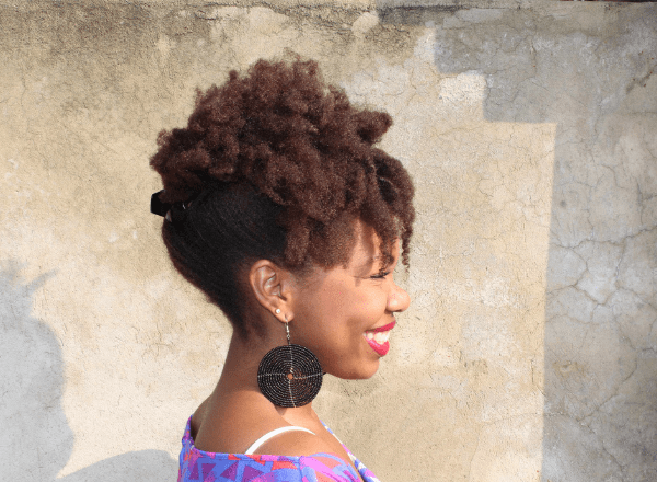 natural hair updo look 7b
