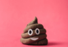 poop emoji with a smiley face