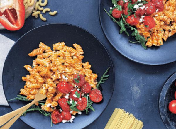 Recipe: red pepper romanesco pasta salad